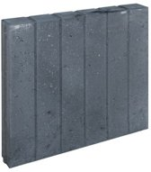 3 stuks! Blokjesband zwart 8x50x50 cm Gardenlux