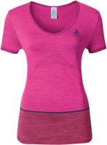Odlo Shirt s/s v-neck SEAMLESS KAMILERA - Sportshirt  - Maat XS
