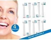 Opzetborstels passend op Oral-B 4 stuks hard