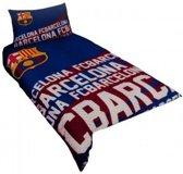 FC Barcelona voetbal dekbedovertrek - eenpersoons dekbedhoes met 1 kussensloop