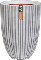 Capi Bloempot Urban Tube elegant laag 55x73 cm ivoor KIVT785
