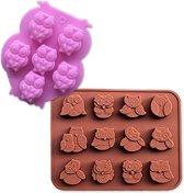 Duo pakket uil vormen - Malletjes voor ijs, chocolade, krijt of zeep - Uil vorm/mal