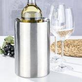 Dubbelwandige wijnkoeler RVS