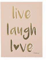 A Little Lovely Company Childhome Schilderij Live Laugh Love