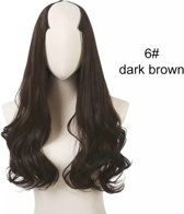 Clip in hair extensions wavy 24 inch dark brown