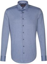 Seidensticker overhemd slim fit blauw, maat 39