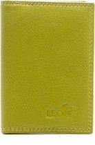 LeonDesign - 16-CC1502-13 - mapje voor pasjes - groen - leer