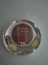 2B Trio eye shadow Enchanting colours 06 taupe/pink/burgundy