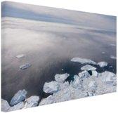 De Noordpool Canvas 80x60 cm - Foto print op Canvas schilderij (Wanddecoratie)