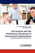 Job Analysis and Job Performance Syndrome in Government Organizations