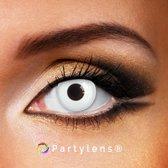 Partylenzen set - White Out - jaarlenzen incl. lenzenvloeistof + lenzendoosje - kleurlenzen Partylens®