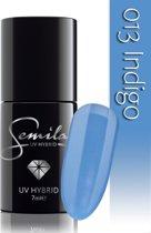 013 UV Hybrid Semilac Indigo 7 ml.