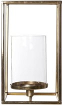 Cosy & Trendy t-licht houder vierkant -glas - goud l