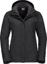 Jack Wolfskin Seven Lakes 3in1 Women - dames - 3-in-1 winterjas - maat XL - zwart