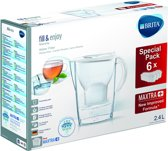 BRITA fill&enjoy Marella Cool White - 6filters + 1kan