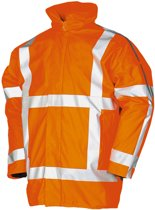 Regenjas / regenparka RWS Safeworker oranje maat XL - PU flex