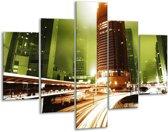 Glasschilderij Steden | Groen, Bruin, Wit | 100x70cm 5Luik | Foto print op Glas |  F003033