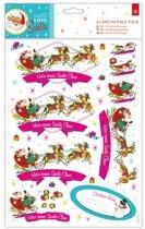 A4 Decoupage Pak - Love Santa - Kerstman