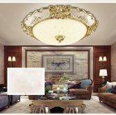 18W 3-kleur dimmen ronde eenvoudige woonkamer gangpad lichten veranda balkon LED Lamp verlichting plafondlamp  Diameter: 40cm (goud)