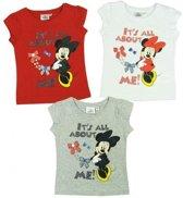 Disney Minnie Mouse T-Shirt Grijs maat 128 - 1 Stuks