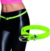 Neon groene riem 115 cm