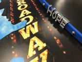 Colori 4 BRA10094 Siliconen Armband met Tekst Hope - Zilverkleurig / Donker Blauw