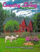 Country Living Past & Present a Grayscale Coloring Book for Adults