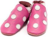 Babyslofje roze met witte stippen