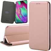 Samsung Galaxy A40 Hoesje - Book Case Flip Wallet - iCall - Roségoud