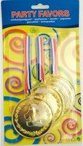 3 stuks medailles Nummer 1
