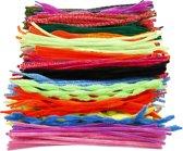 Chenille draad, dikte 5-12 mm, kleuren assorti, 500 assorti