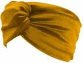 Velvet Fluweel Haarband - Geel goudkleurig