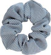 Scrunchie kraagjeskopen.nl - zwart wit Exclusieve Luxe haarwokkel haarelastiekje - ruitjes - extra groot - scrunchies