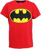 DC Comics Batman Logo Kinder T-Shirt Rood, Maat:  152