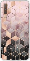 Casetastic Softcover Samsung Galaxy A7 (2018) - Soft Pink Gradient Cubes