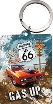 Route 66 Gas up sleutelhanger, Amerika USA, Metaal