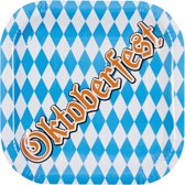 48 stuks: Set a 6 Bordjes - Oktoberfest - 25x25cm