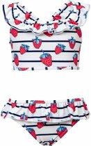 Snapper Rock UV werende Bikini Kinderen Strawberry - Blauw - Maat 86-92