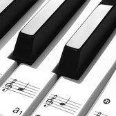 Verbeterde Pianostickers - piano - stickers - Keyboard - Leer noten lezen - Piano leren spelen - Verwijderbaar - Transparant - Voor 49, 61 of 88 toetsen