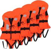 4 zwemvesten Reddingsvesten Oranje 10-20 kg 100N 4 STUKS voordeel - Zwemvesten - Reddingvest Kinderen