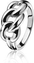 Zinzi ZIR78956 Ring - Zilver - Gourmet - Maat 56