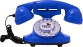 retro telefoon draaischijf Funkyfon blauw