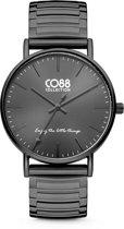 CO88 Collection 8CW-10060 - Horloge - Horloge - stalen elastische band - zwart -  ø 36 mm