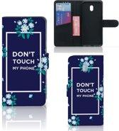 Xiaomi Redmi 8A Portemonnee Hoesje Flowers Blue DTMP