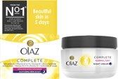 Olaz Complete Care Verijkte nachtcreme voor droge en normale huid
