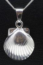 Zilveren Sint Jacobs schelp 3 ketting hanger