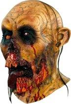 Bloedende zombie masker voor volwassenen - Verkleedmasker