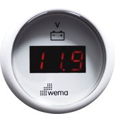 Wema voltmeter LED / wit
