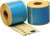 10 x Dymo 99014 Compatible Labels 101mm x 54mm blauw