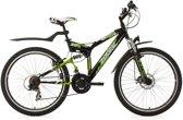 Ks Cycling Fiets 26 inch mountainbike, fully-ATB Zodiac met 21 versnellingen zwart - 48 cm